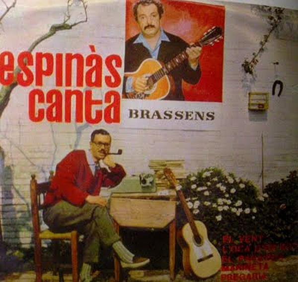 Portada del disc Espinàs canta Brassens -