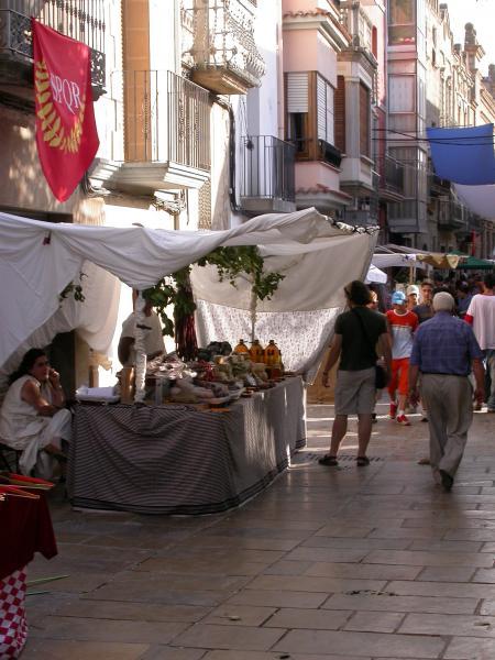 08.08.2012 El carrer de les botigues  Guissona -  Ramon Sunyer