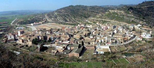 08.08.2012 Panoràmica del poble  Sanaüja -  Josep Maria Santesmasses Palou