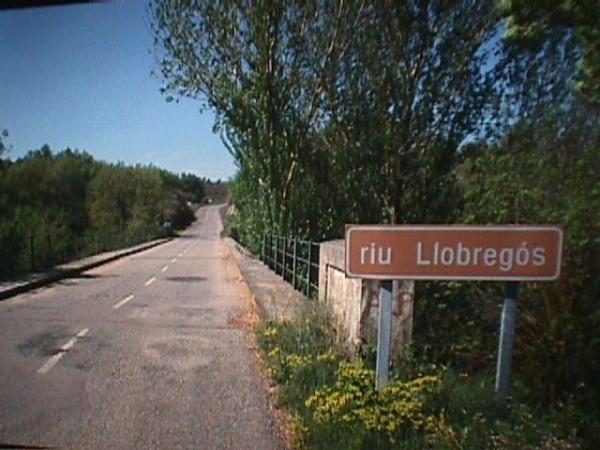 Pont sobre el Llobregós a Sanaüja - Sanaüja