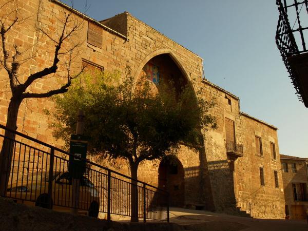 el castell de les Pallargues és a dins mateix del poble - Les Pallargues