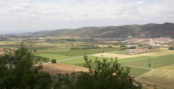 Vista de la vall del Llobregós - Torà