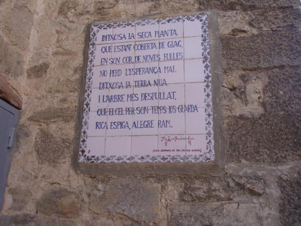 14.08.2012 Els versos de Vicens Garcia,   Vallfogona de Riucorb -