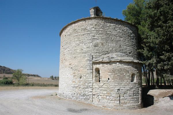 15.08.2012 ' Sant Pere el Gros, l'única església romànica de planta circular que hem vist'  Cervera -  Josep Renalias