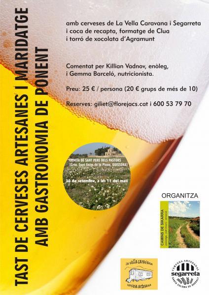 cartell Tast de cerveses artesanes i maridatge amb gastronomia de ponent