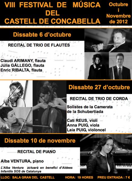cartell VIII Festival de Música: Recital Trio de Flautes - Concabella