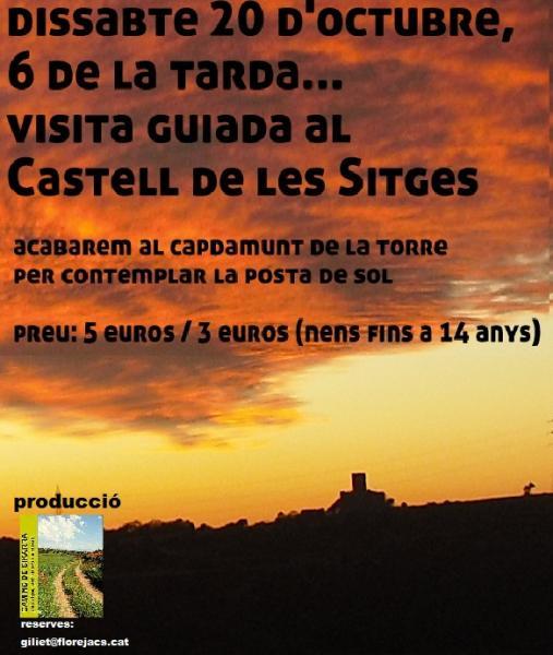 cartell visita crepuscular al Castellde les Sitges: 20OCT - Florejacs