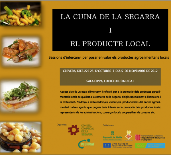 cartell La cuina de la Segarra i el producte local I - Cervera