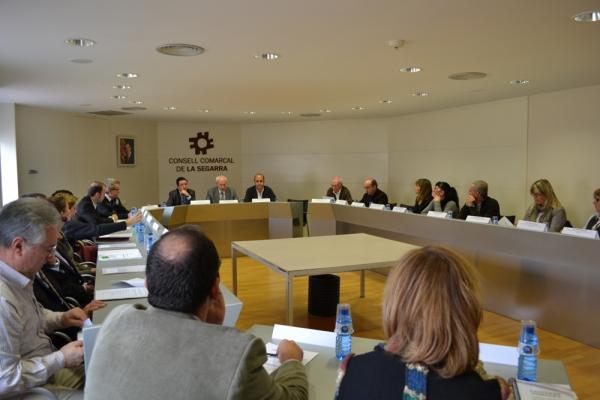 Acte de signatura del protocol per treballar coordinadament el casos de violència a la comarca - Cervera