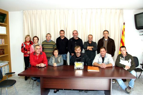 Foto de comiat de Narcís Cisquella amb tots els representants municipals