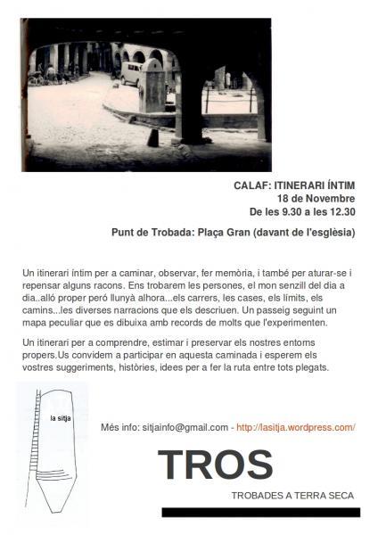 cartell Itinerari Íntim per Calaf