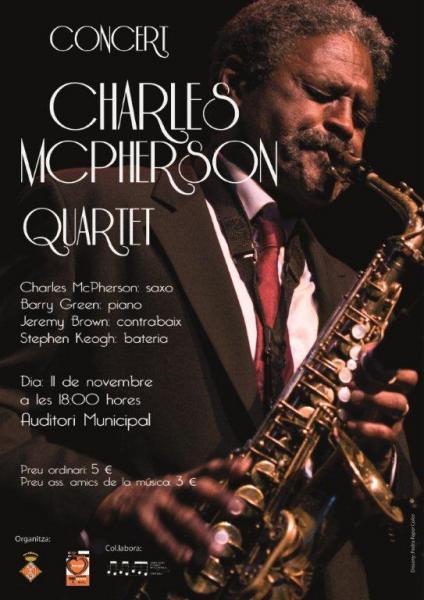 cartell Concert de Charles McPherson Quartet - Cervera