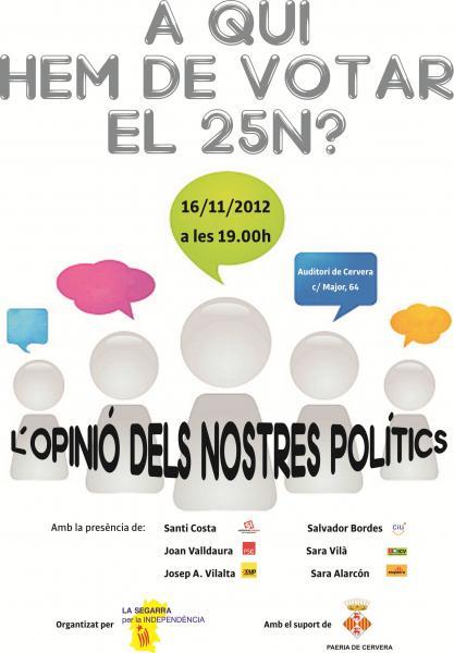 cartell debat A QUI HEM DE VOTAR EL 25N?