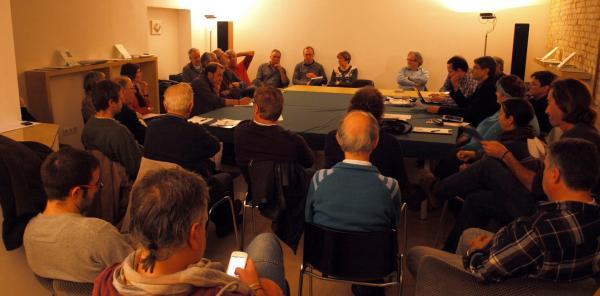imatge de la reunió a Verdú de les diferents associacions culturals - Verdú