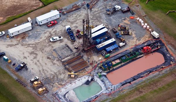 Explotació amb tècnica fracking -