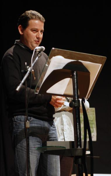 Jordi Oliva, en un moment de l'acte de lliurament de la Beca Amanda Llebot.