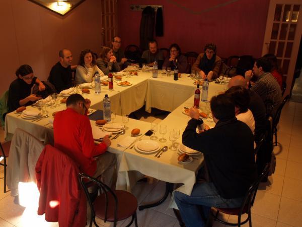 30.11.2012 dinar de treball a Cal Colom  Cervera -  Camins de Sikarra