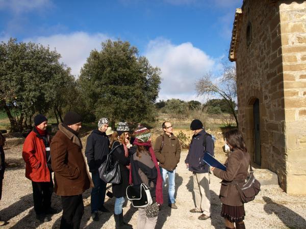 30.11.2012 ermita de la Soledat, on llegirem els goigs de la Mare de Déu de la Soledat  Selvanera -  Camins de Sikarra