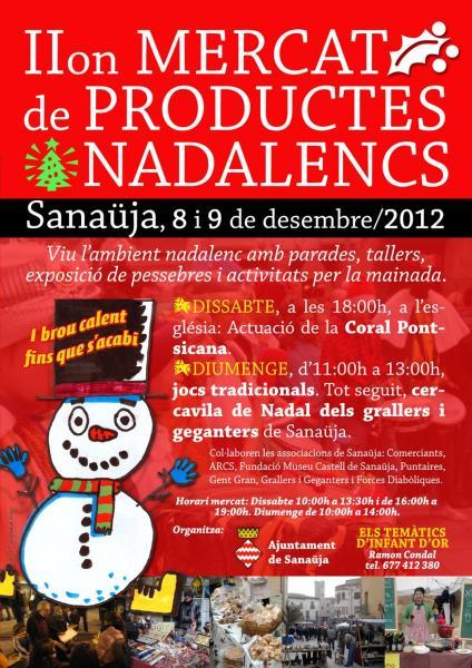 cartell 2n Mercat de productes nadalencs - Sanaüja