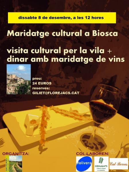 Maridatge gastronòmic i visita cultural a Biosca
