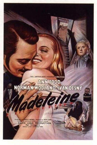 cartell Cinema: Madeleine de David Lean - Cervera