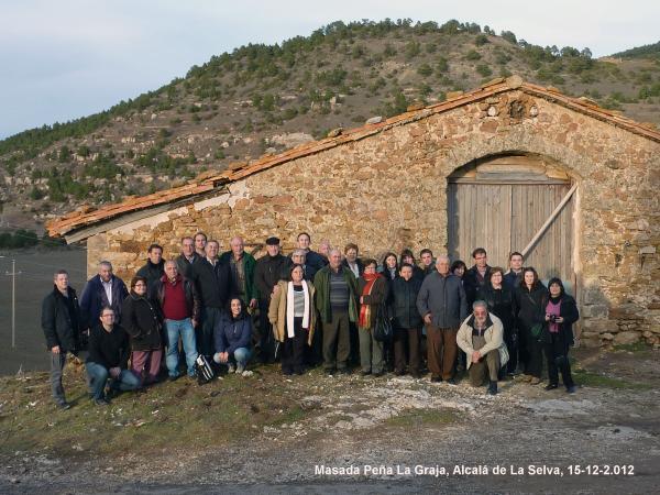 Foto dels participants a la Masada Peña la Graja