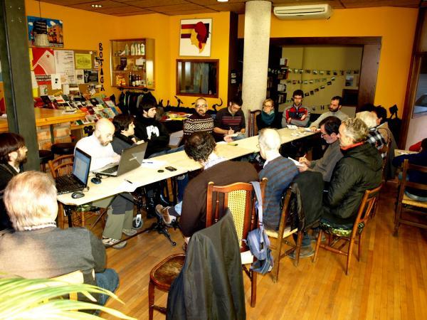 la trobada va tenir lloc a l'Ateneu Rocaus de Sallent