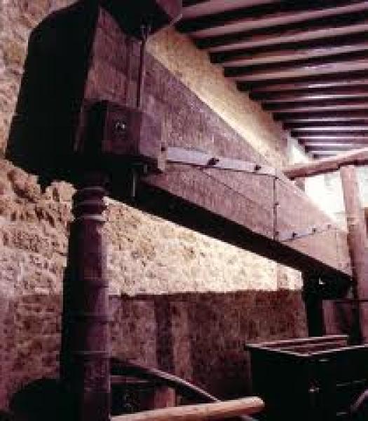 cartell visita a l'antic molí   tast d'olis i xocolates artesans - Torà