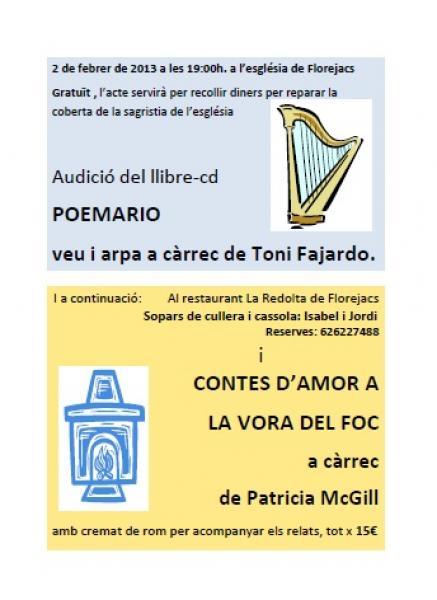 cartell Recital de poesia i música - Florejacs