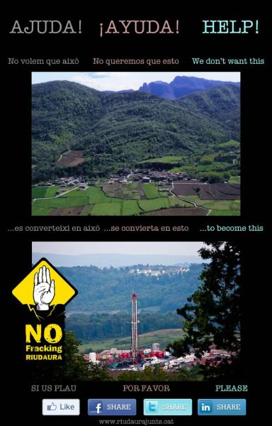 Cartell No fracking Ridaura  - Ridaura