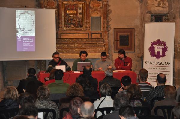 12.01.2013 Presentació dels actes de Bateig de l'Àliga de Cervera  Cervera -  Agrupació Seny Major