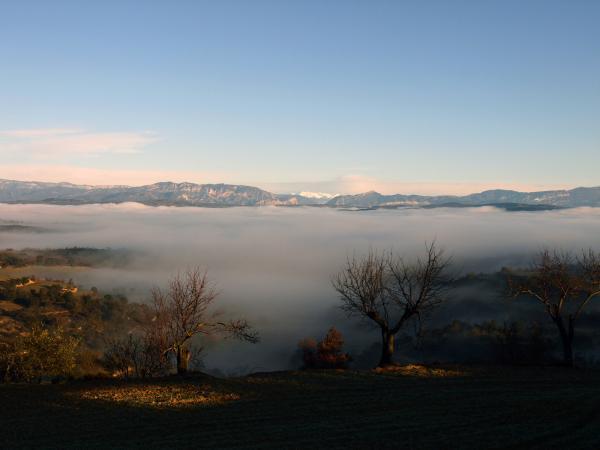 17.01.2013 La boira estenent-se per la vall del Llobregós, des de Mas Canet  Palou -  Giliet de Florejacs