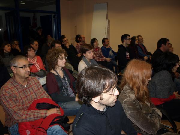 19.01.2013 la sala d'actes, plena de gom a gom  Agramunt -  Jaume Moya