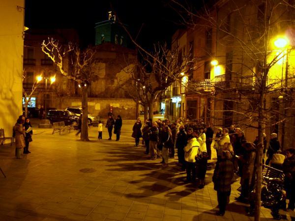 23.01.2013 l'acte ha tingut lloc a la Pl. Bisbe Benlloch  Guissona -  Jaume Moya