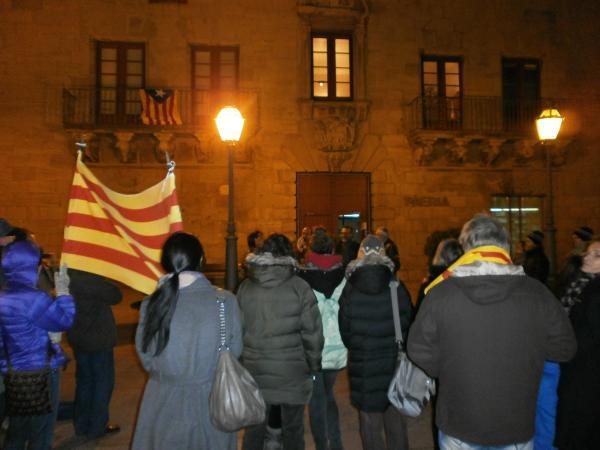 Celebració per la declaració de sobirania del poble de Catalunya a Cervera
