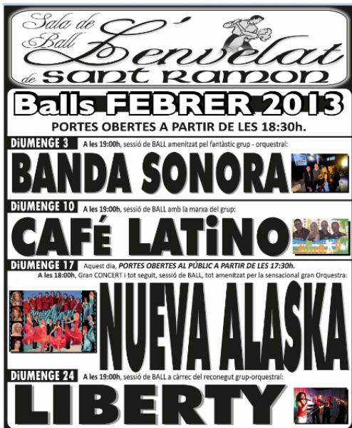 cartell Balls de febrer 2013 - Sant Ramon