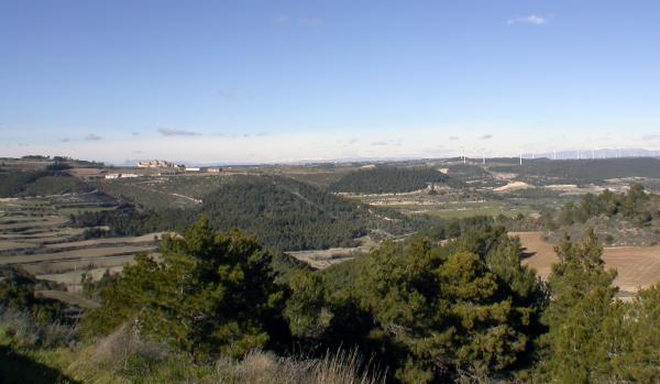 26.01.2013 Vista del nucli de Carbasí  Argençola -  Ramon Sunyer
