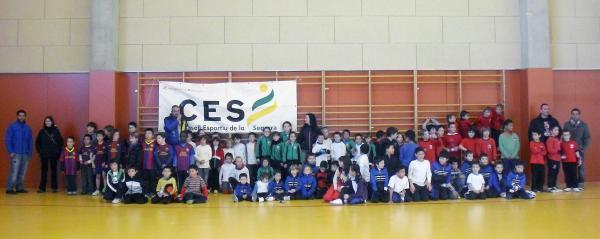 27.01.2013 trobada de futbol sala de centres de primària de la Segarra  Sant Guim de Freixenet -  CC Segarra