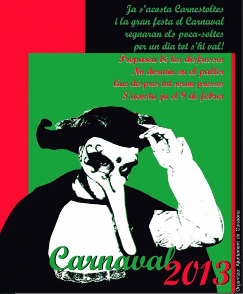 cartell Carnaval de Guissona 2013
