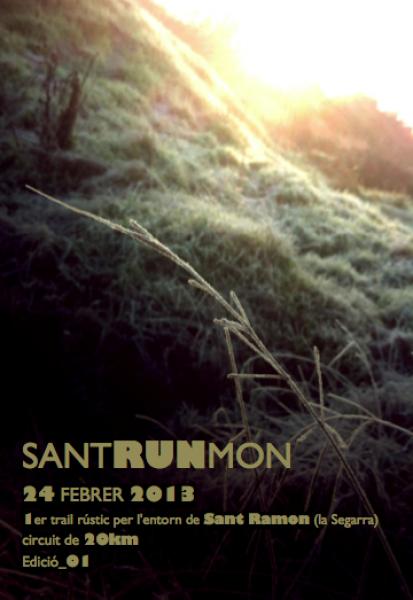 cartell SantRUNmon: Trail rústic a Sant Ramon - Sant Ramon