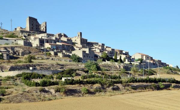 09.02.2013 Vista del poble  Savallà del Comtat -  Albert