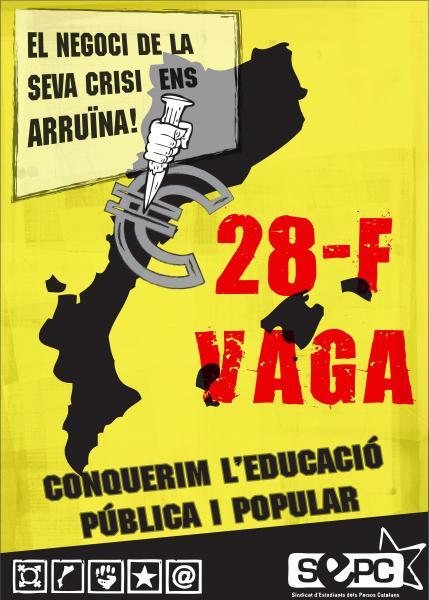 El SEPC Cervera convoca vaga estudiantil amb  manifestació a Cervera pel 28 de febrer - Cervera
