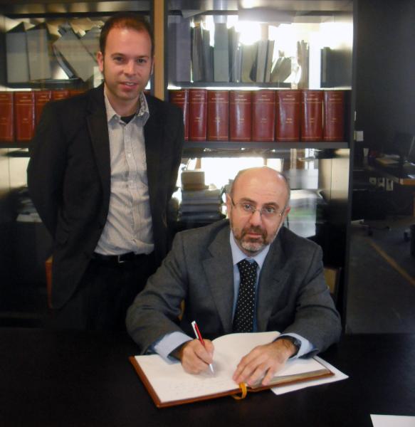 27.02.2013 El director dels serveis territorials de Salut a Lleida, Sr. Pifarré, i l'alcalde, Sr. Xavier Casoliva  Guissona -  Ajuntament de Guissona