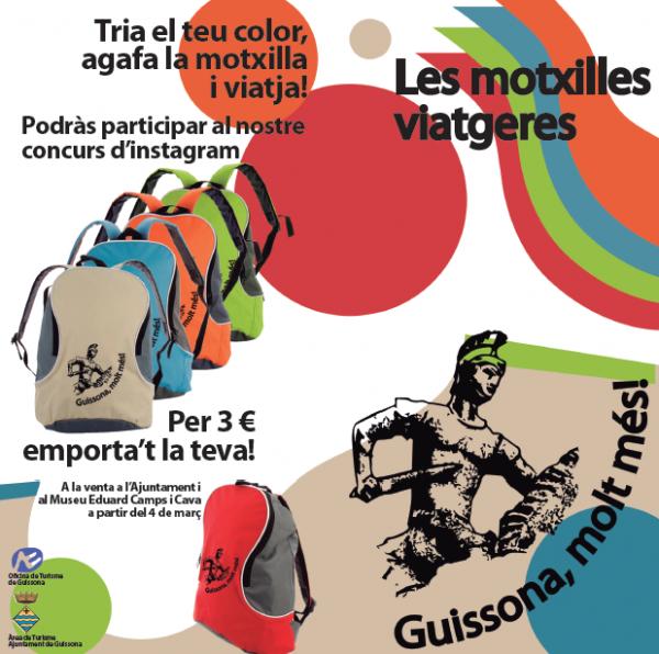 """27.02.2013 concurs fotogràfic """"Les motxilles viatgeres"""". L'objectiu és donar a conèixer Guissona arreu del món  Guissona -  Ajuntament de Guissona"""