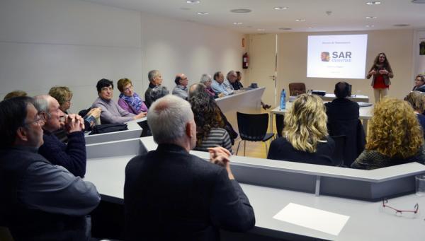 27.02.2013 Les sessions informatives han anat a càrrec de la empresa SARquavitae-MAFRE, la qual presta el servei bàsic de teleassistència al Consell Comarcal.  Cervera -  CC Segarra