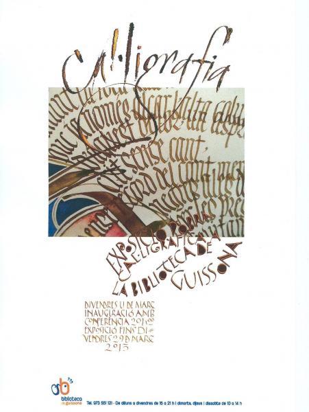 cartell Exposició Cal·ligrafia - guissona