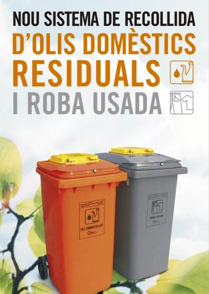 Calonge de Segarra incorpora contenidors per recollir olis i roba