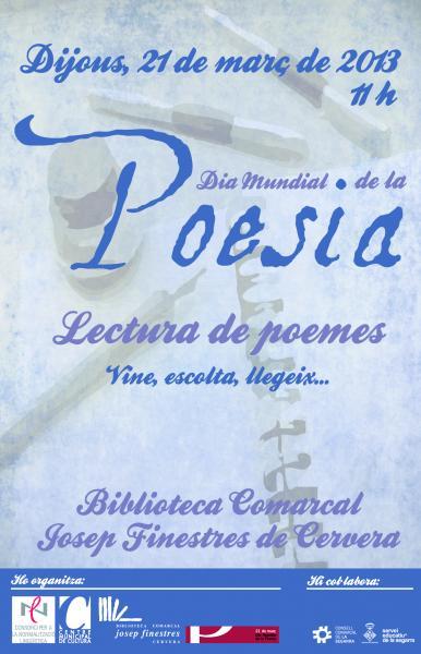 cartell Dia Mundial de la Poesia