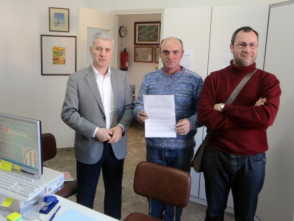 Els regidors del PP de Sant Ramon amb el diputat provincial Salvador Puy