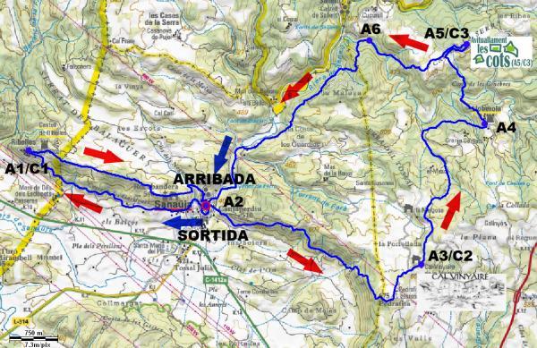 VII Race Mountain Alta Segarra: recorregut -